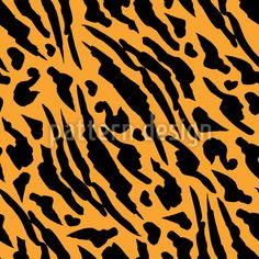 Abstract Tiger Skin Vector Pattern by Ilona Repkina at patterndesigns.com Vector Pattern, Pattern Design, Tiger Skin, Animal Print Rug, Print Patterns, How To Draw Hands, Abstract, Painting, Summary