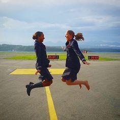 #CabinCrew #CrewLife #AirlinesCrew #AirCrew #AirHostess #Aircraft #Flying #Fly #Airplane #Steward #Stewardess #MalaysiaAirlines #SingaporeAir #Thai #Flynas #KLM #Lufthansa #Norwegian #AirCanada #AA #Continental #Delta #jumpseat #uniform #skirt #jumping #fun #friends #Happy