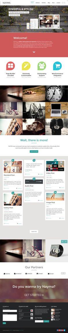 Nayma from ThemeForest - a stunning wordpress theme.