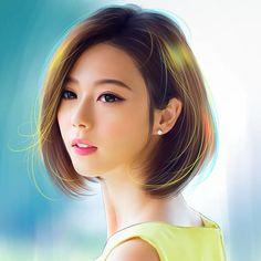 真人转手绘 | image: duitang.com