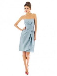 $295  Pretty - maybe a bit shorter. Colour isnt bad either. Strapless