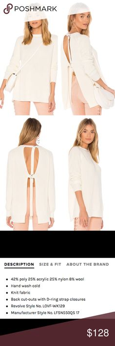 Lovers + Friends Seneca Sweater🌹NWT Brand new never worn. Sexy meets chic in the white sweater. Perfect for spring & goes with everything!  ❤️ price firm, reasonable offers only ❤️ Lovers + Friends Sweaters Crew & Scoop Necks