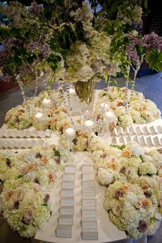 escort card table set-up