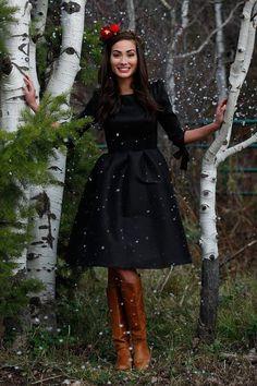 Nutcracker Fit&Flare Black Dress
