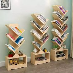 Diy Storage Shelves, Home Decor Shelves, Home Decor Kitchen, Home Decor Furniture, Furniture Makeover, Wooden Wall Design, Wooden Wall Shelves, Wall Bookshelves, Wooden Walls