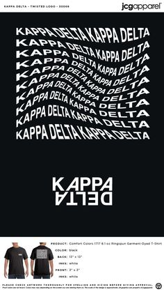 Kappa Delta Twisted Logo Shirt | Sorority Twisted Logo Shirt | Greek Twisted Logo Shirt #kappadelta #kaydee #kd #Twisted #Logo #Shirt