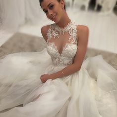 """BELLE""  #designergown #couturegown #weddingdress #weddingdress #romantic #bridal #bridetobe #maryioannidiscouture @sophiamj"