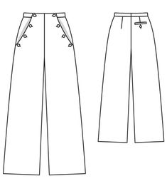 BurdaStyle Sailor Pants...if I can muster the energy and time, I want these....