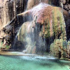 Wonderful hot water natural springs in ma'een Jordan