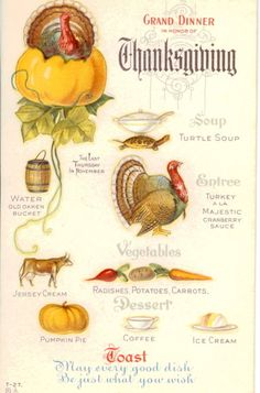 Early 1900s: | 14 Vintage Thanksgiving Menus, 1895-1949