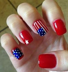 trends nail art of 4th july
