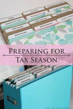 Preparing for Tax Season: Tips for Small Business Owners Small Business Accounting Software, Small Business Tax, Business Tips, Online Business, Bookkeeping Business, Small Business Organization, Financial Organization, Tax Preparation, Business Entrepreneur