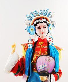 Chinese Beijing Opera Doll-Silk Embroidery Costume  $36