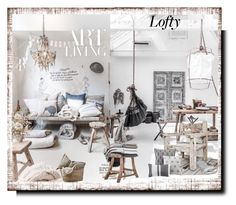 """lofty"" by barbara-gennari ❤ liked on Polyvore featuring interior, interiors, interior design, home, home decor, interior decorating and Madison Park"