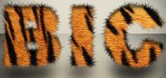 """Aprenda o efeito tipográfico onde o texto fica """"peludo"""" utilizando uma textura fotográfica de pelagem de um animal real e uma configuração simples de Brushe, seguindo o exemplo você será capaz de criar efeitos com outras texturas, use a criatividade, faça testes com outras fontes e tipos de textura que não sejam apenas de animais. ."""