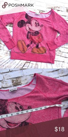 Disneyparks Mickey Mouse sweatshirt Excellent condition , measurements in pictures Sz tag is faded Disney Tops Sweatshirts & Hoodies