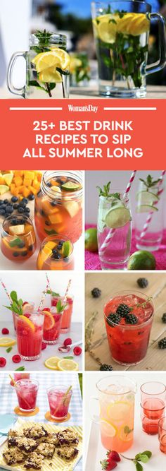 Save these summer drink recipesfor later by pinning this image, and followWoman's DayonPinterestfor more.