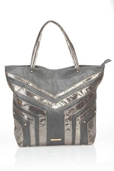 Tote In Gray And Silver. Love!