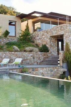 Modern house in Balagne in Corsica