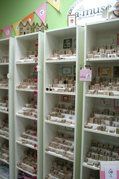 Rubber stamp display...using spice rack organizers
