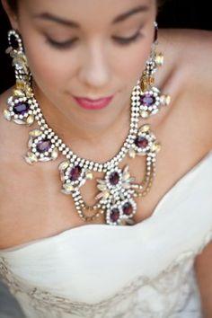La Boheme statement wedding necklace