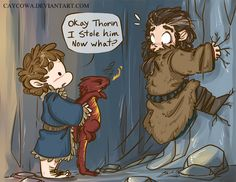 Hobbit - Bilbo the Dragon Burglar by caycowa on DeviantArt