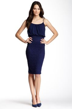 Soprano Spaghetti Strap Lace Midi Dress  Was: 58.00$ Now: 28.97$