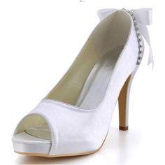 Peep toe Satin Rubber sole Wedding shoes www-miamastore-com viola