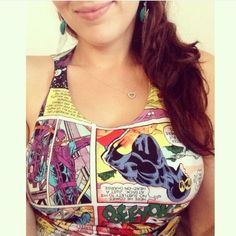 ‼️CLEAROUT! MARVEL Crop Top⚡️ ✨RAD✨ Limited Edition Marvel Comics Tank Top. This is a cropped style, but not with a loose fit. Best worn with high waisted shorts or jeans unless you wanna show off a little midriff!  Cool collage of comic pages. Vibrant and in great condition (worn ONCE, like NEW!) ❌NO TRADES❌ All sales go towards veterinary medical bills 🐾💜 Hot Topic Tops Crop Tops