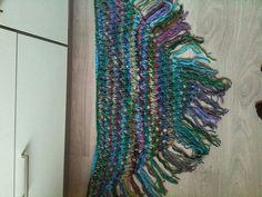 Blauw/paars/groen omslagdoek