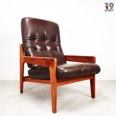 Neu bei 19 West Furniture: High Back Lounge Chair   Arne Wahl Iversen   komfort   www.19west.de #19west #vintage #retro #furnituredesign #teak #danishdesign #sixties