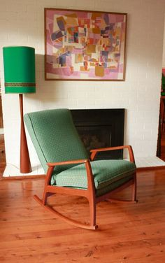 SOLD Mid Century Rocking Chair by TriBecasVintage on Etsy