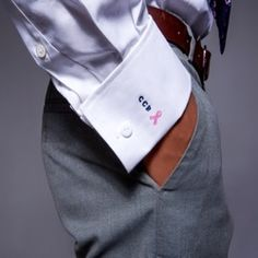 Monogrammed cuff on men 39 s dress shirt but make sure it is for Dress shirt monogram placement