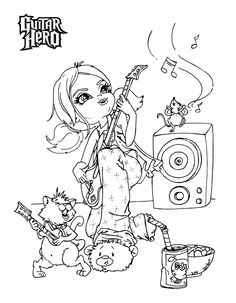 guitar hero coloring pages - photo#9