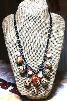 Κολιέ με.χειροποίητες χάντρες   Είναι απο πολυμερικο πηλο (απομίμηση Burberry) Burberry, Jewelry, Fashion, Moda, Jewlery, Jewerly, Fashion Styles, Schmuck, Jewels