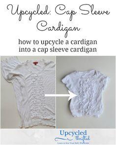 Upcycled: Cap Sleeve Cardigan