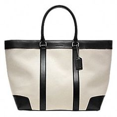 Coach Bleecker City Canvas Weekend Tote... adoro