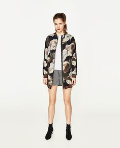 ZARA - WOMAN - OVERSIZED PRINTED BOMBER JACKET