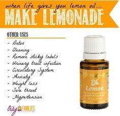 organic lemonade recipe using Young Living essential lemon oil