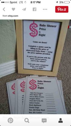 Free printable price is right baby shower game baby shower ideas directions price is right shower partybaby maxwellsz