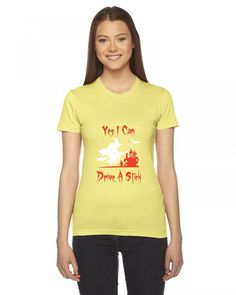 yes i can drive a stick funny Ladies Fitted T-Shirt