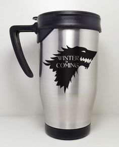 Caneca Termica - Game of Thrones - The Winter is Coming, drink coffee R$45.90
