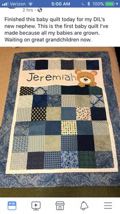 Diy Babydecke keine nähen Ideen - 2019 - Decke Diy, You are in the right place about patchwork quilting for men Here we offer you the most beautiful pictures a Baby Quilts Easy, Baby Girl Quilts, Girls Quilts, Quilt Baby, Baby Quilts For Boys, Children's Quilts, Amish Quilts, Blue Quilts, Colchas Quilting