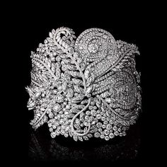 The Art of Transformation: White Diamond Fern Cuff