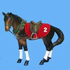 CHRISTMAS RACEHORSE TABLEPIECE