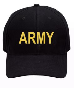 ARMY Baseball Caps - Black, Olive, And Woodland Camo Accents