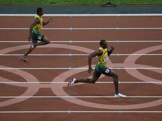 Las fotos del segundo oro de Bolt.