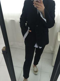 Cut-off jacket.   #ootd#lookoftheday#outfit#normcore#blazer#veste