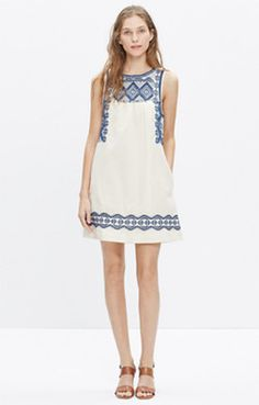 Embroidered Stitchtake Dress from @madewell