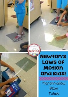 Newton's Laws of Motion are really tricky to understand with elementary kids, but these marshmallow blow tubes just might do the trick!